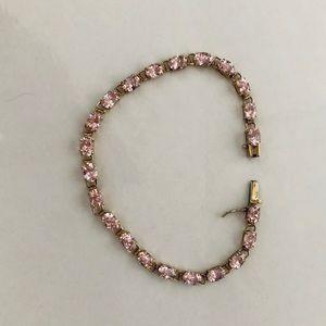 Zales Jewelry - 10K Gold Pink Ice Tennis Bracelet